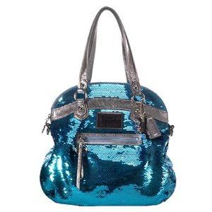 Coach poppy sequins handbag